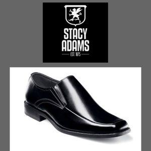 STACY ADAMS  BLACK CASSIDY MOC TOE LOAFER SIZE 14M